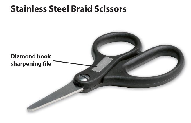 Carp LinQ- STAINLESS STEEL BRAID SCISSORS