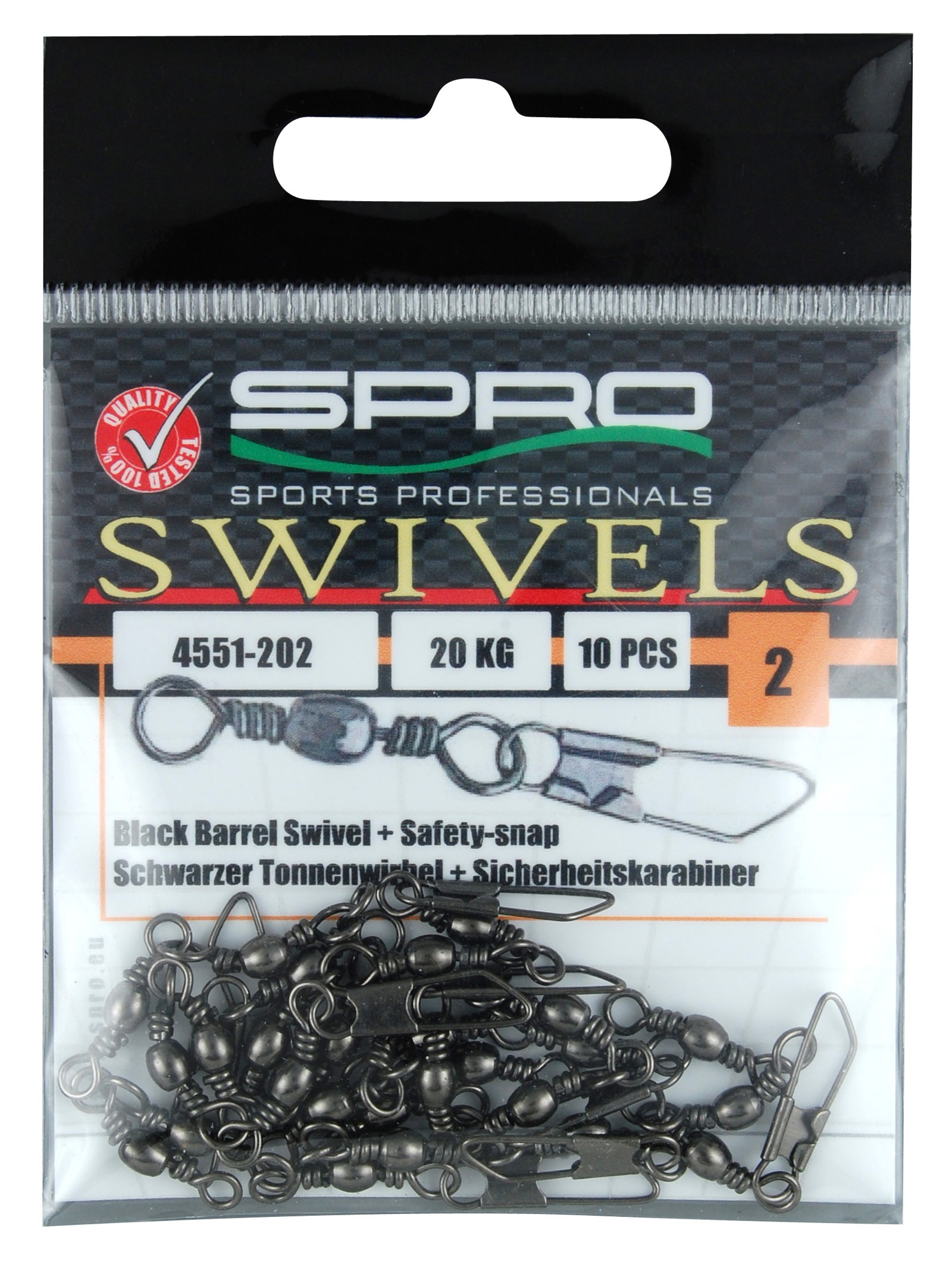 SPRO- Barrel Swivel s Safety Snap