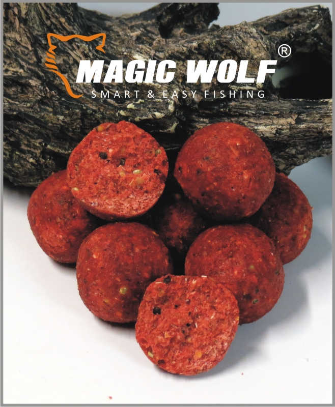 MAGIC WOLF - Boilies Speed Wolf 250gr-20mm- JAHODA