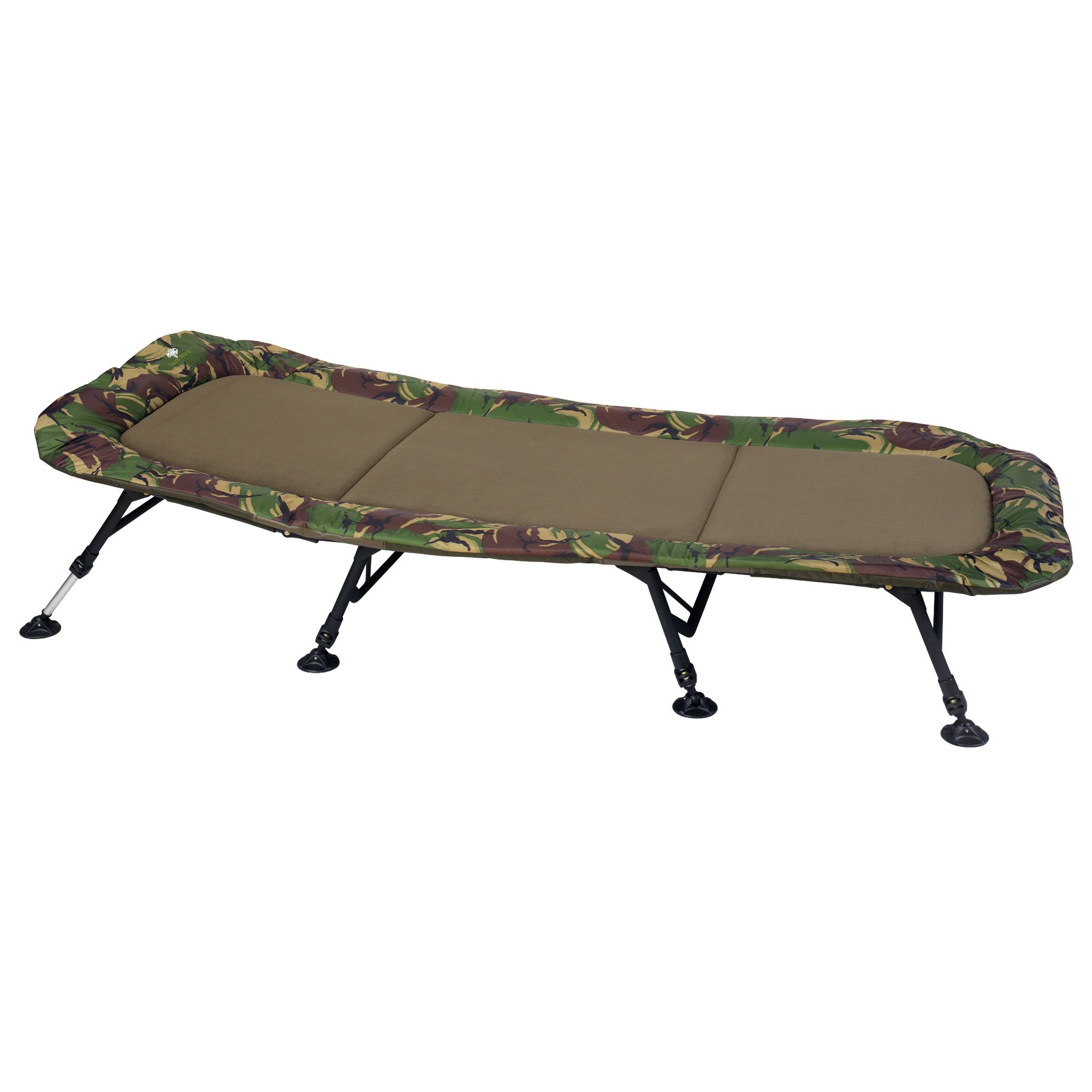GIANTS FISHING- Lehátko Bedchair Flat Fleece Camo XXL 8Leg