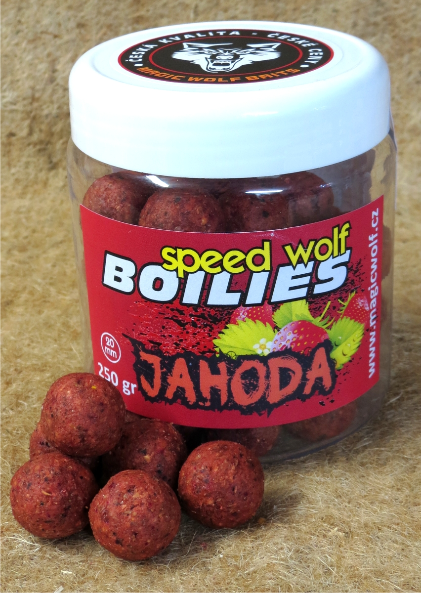 MAGIC WOLF - BOILIES SPEED WOLF 250 gr JAHODA