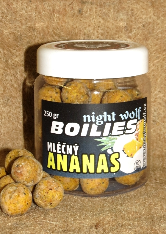 MAGIC WOLF - BOILIES NIGHT WOLF 250 gr MLÉČNÝ ANANAS 20mm