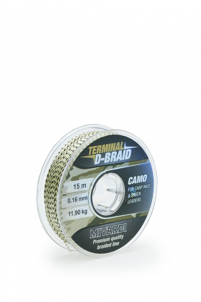 MIVARDI - Terminal D-Braid - Camo 0,14 mm 15 m