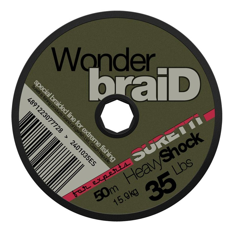 SURETTI- Wonderbraid shock 25LBS/50m