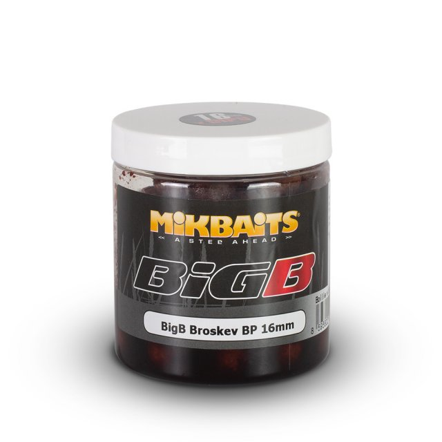MIKBAITS- Boilie v dipu BigB- Broskev Black Pepper 250ml