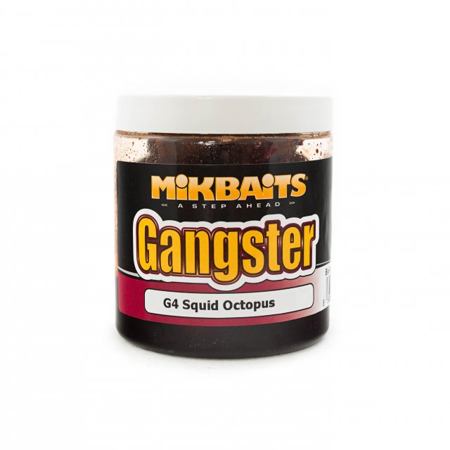 MIKBAITS- Boilie v dipu Gangster G4- Squid Octopus 250ml