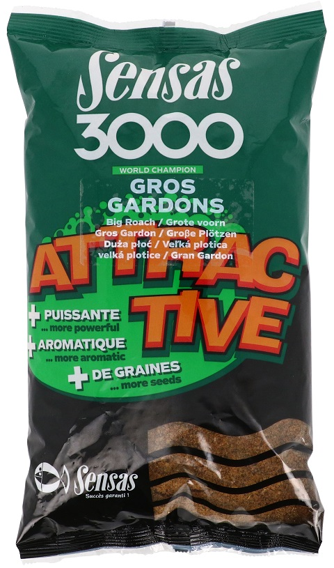 SENSAS- 3000 Attractive Gros Gardon (velká plotice) 1kg