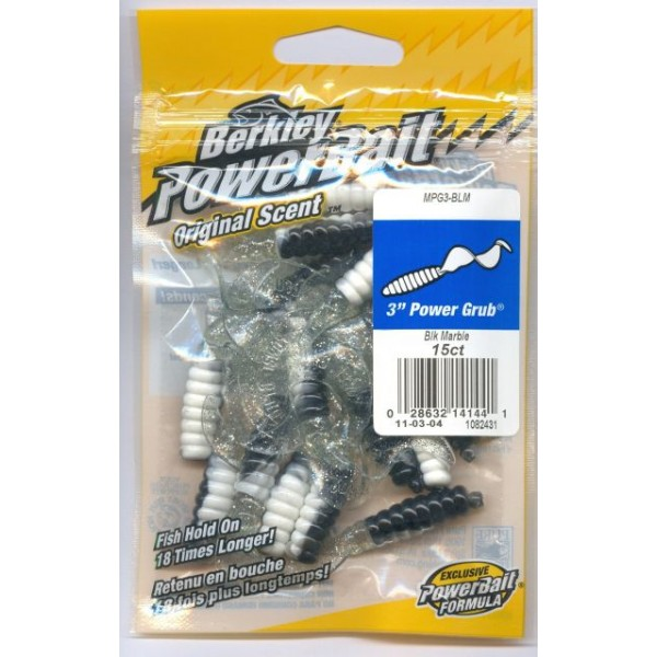 Power Bait-Twister Power Grub Black Marble 7,6cm